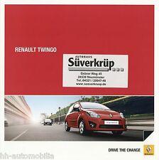 Prospekt Renault Twingo + Sport + Gordini + RS 6 11 Autoprospekt 2011 brochure