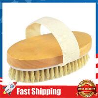 Dry Brushing Body Brush Natural Bristle Dry Skin Exfoliating Brush Body Scrub