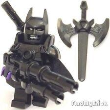 BM004AE Lego Custom Evil Batman Custom Minifigure with Armor Weapons & Sword NEW