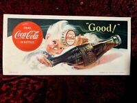 1953 COCA-COLA INK BLOTTER -  HADDON SUNDBLOM ARTWORK - NEW OLD STOCK (a4273)