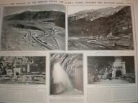 Photo article Swiss-Italy Simplon Tunnel progress 1905