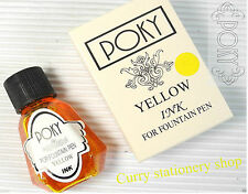 portable Poky colour ink for fountain & CALLIGRAPHY pen YELLOW ink