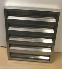 "Vent Hood Baffle Grease Filter All Stainless Steel 20""W x 16H""x 1-1/2"" Venthood"