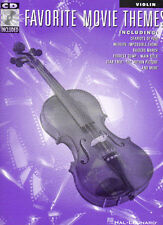 Favourite Movie Themes Violin Sheet Music Book + CD NEW