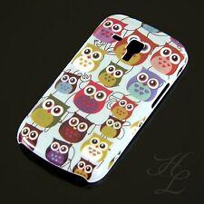 Samsung Galaxy S Duos S7562 Hard Case Schutz Hülle Motiv Etui kleine Eule Owl