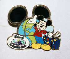 DVC Disney Vacation Club Travel Expo Getaway Days Mickey Globe Suitcase Pin