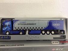 Herpa 1:87 Scania Topline Spedition GSG Transport Spezialeinheit Rarität