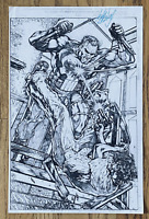 THE PUNISHER 1991 ANNUAL 4 p7 COMIC BOOK ART PAGE SIGNED PRINT JOHN HEBERT 11x17