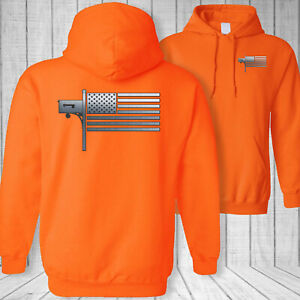 USA flag mail letter carrier American flag postal worker sweatshirt hoodie - M