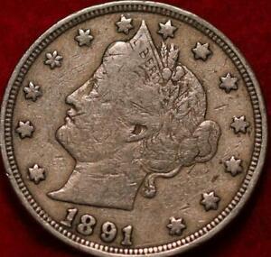 1891 Philadelphia Mint Liberty Nickel