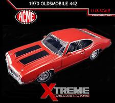 ACME A1805607 1:18 1970 OLDSMOBILE 442 Dr. OLDS SERIES #3 MATADOR RED LTD ED 996