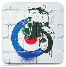 Brainbox Candy Vespa Retro Mod Scooter Coaster Coffee Tea Drinks Mat Vintage