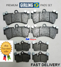 Audi Q7 3.0 TDI Quattro S Line 06-11 Front And Rear Girling Brake Pads Set *NEW*