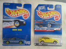 Hot Wheels BMW 850i & Mercedes SLK Die Cast 2-Car Set!