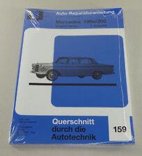 Reparaturanleitung Mercedes Benz 190c / 200 - W 110 - Heckflosse  Band 1 !