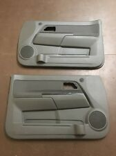 04-11 CHEVY COLORADO GMC CANYON CREW-CAB DOOR PANELS (2) FRONT DARK GRAY OEM
