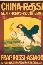 Original Plakat - CHINA-ROSSI - Elixir-Tonico-Ricostituente, Frat. Rossi-Asiago