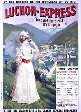 Affiche chemin de fer Orléans & Midi - Luchon Express