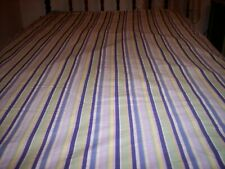 Wamsutta twin duvet cover purple and green stripes