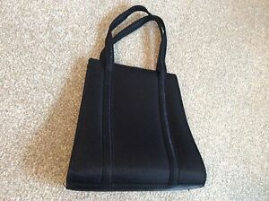 EVENING BAG BLACK WITH SLIGHT SHIMMER prom/cruise --VGC