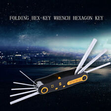 8 in 1 Portable CR-V Folding Hex-Key Wrench Hexagon Key Allen Wrench Set JL