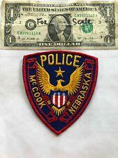 Rare McCook Nebraska Police Patch Un-sewn in great shape