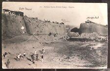 1907 Crete Greece RPPC Postcard cover Athletic Sports British Camp To Ireland