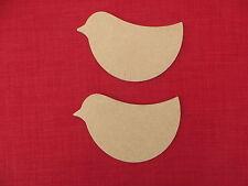 Unpainted  Wooden Bird shape blanks  MDF