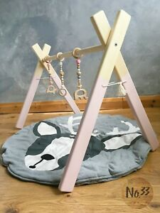 Handmade Wooden Baby Gym/ Play Gym/ Baby Centre in Pink