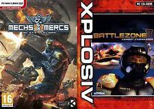 Mechs & Mercs Black Talons & battlezone 2 combat commander  new&sealed