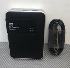 WD 2TB My Passport WiFi Wireless Mobile Hard Drive WDBDAF0020BBK-NESN *TESTED