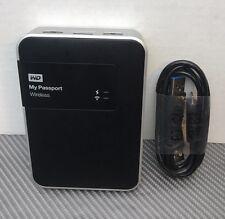 WD 2TB My Passport WiFi Wireless Mobile Hard Drive WDBDAF0020BBK-NESN *TESTED