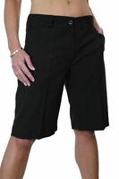 NEW (1492-1) Ladies Smart Washable Day Evening Tailored Shorts Black 8-22