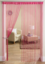 Plain String Panel Modern Room Divider Door Curtain Bright Colours