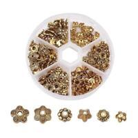 Mix Tibetan Alloy Flower Bead Cone Cap Antique Golden Jewelry Finding Making DIY