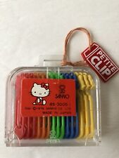 Vintage Hello Kitty Sanrio Little Petite Paper  Clip Set Japan 1976