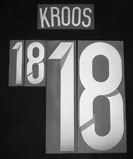 Aktuell DFB Deutschland Kroos Flock für Adidas Away Trikot WM 2014 Quali EM 2016