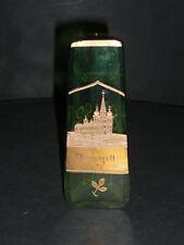 3 eckige kleine Jugendstilvase--Grün mit Goldmalerei-Vorderansicht Mariazell