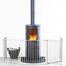 NEW BABYDAN WHITE METAL XL FLEXI FIT HEARTH/CONFIGURE GATE COVERS 90 TO 278 CM