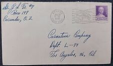 Panama, Balboa, Canal Zone Cover, 1949 Pictorial Cancel, Goethals 3c Cover Stamp