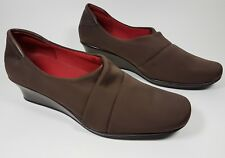 Kenneth Cole Reaction brown fabric low wedge shoes uk 7