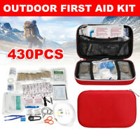 430Pcs/Set First Aid Outdoor Emergency Survival Kit Gear Travel Camping Hiking