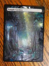 Magic the Gathering Shock Land MTG altered art Zelda Temple Garden