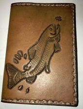 Hand tooled mini journal/note book by Lothar's Leather.