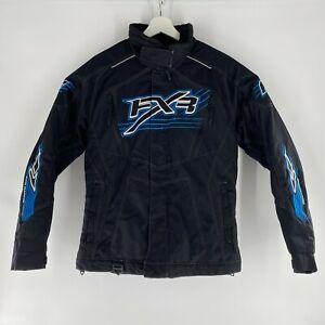 FXR Racing Snowmobile Technical Race Jacket Black Blue NICE! Womens Sz 8 Medium