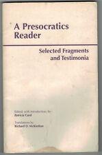 A Presocratics Reader Selected Fragments and Testimonia Hackett Greek Philosophy