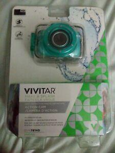 Vivitar DVR781 HD Waterproof Action Video Camera Camcorder Teal