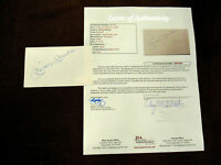 MICKEY MANTLE WSC NEW YORK YANKEES HOF SIGNED AUTO INDEX CARD JSA LETTER GEM