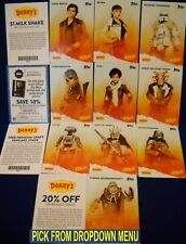 2018 Topps DENNY'S SOLO: a Star Wars Story Base & Coupon cards U-Pick-1