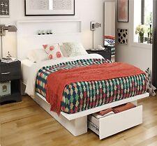 Platform Bed Frame Queen Full Size Modern Bedroom Furniture Drawers Matress 1d